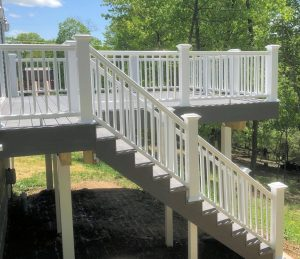 Azek Vinyl Deck With Premier Composite Railing