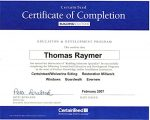 Master Craftsman Certificate