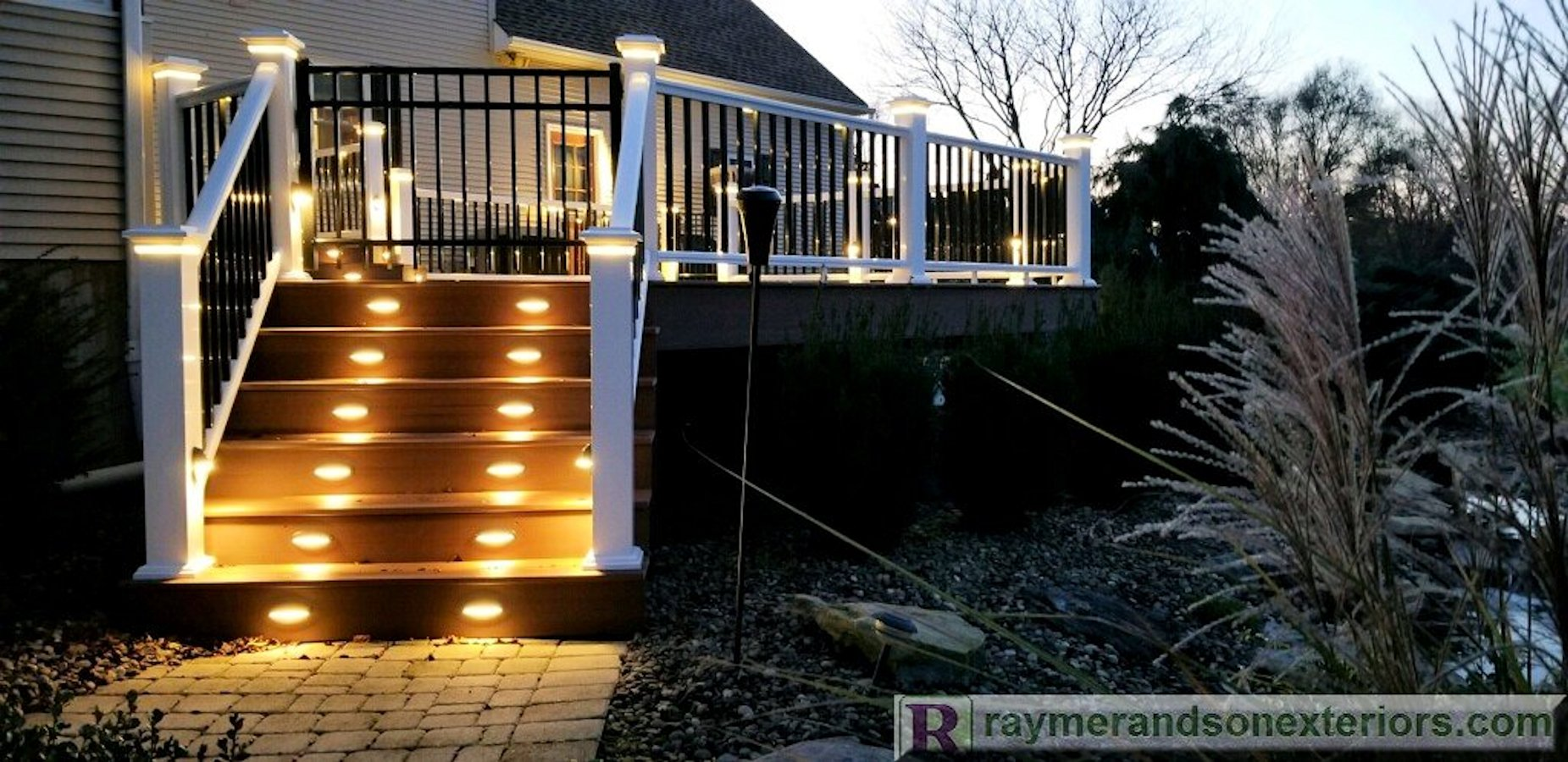 Azek Vinyl Deck With LED Lights