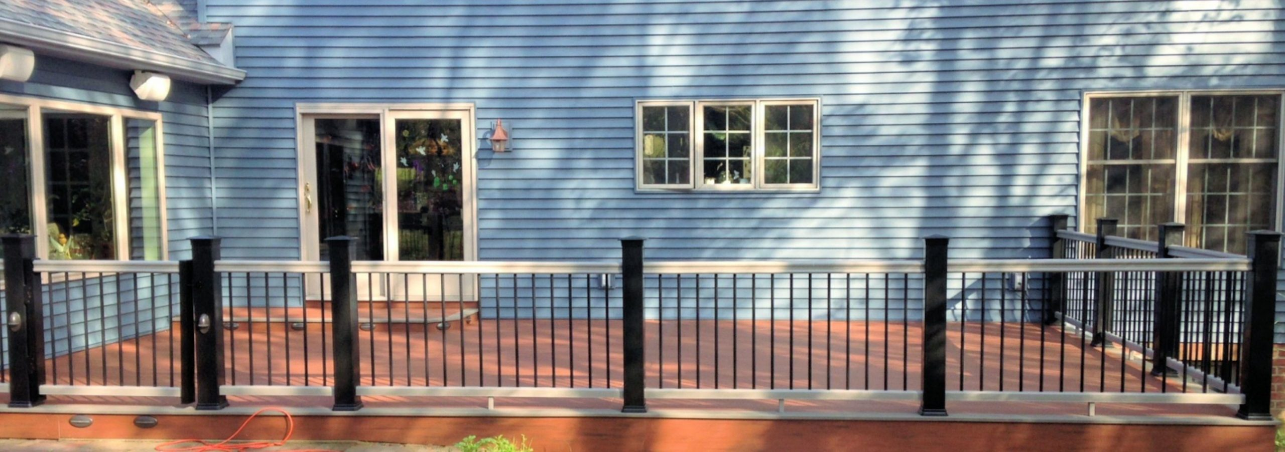 TimberTech-Deck-with-Radiance-Railing-LED-Lights-Vinyl-Siding-Danville-Pennsylvania-B